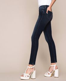 Jeans push up con strass Denim Blue Donna 201MP2310-04