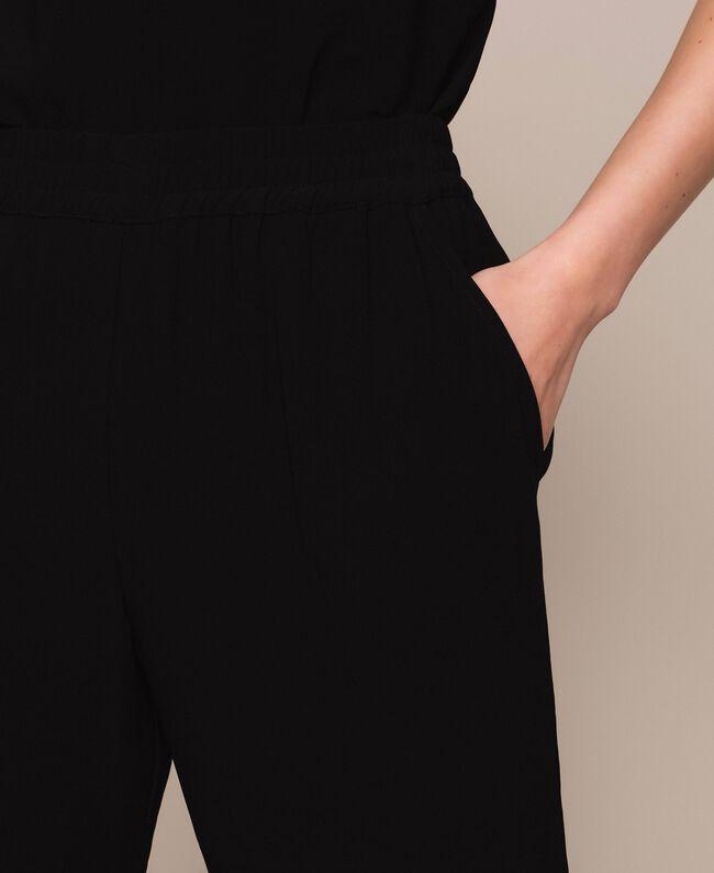 Crêpe cigarette trousers Black Woman 201LB25JJ-04