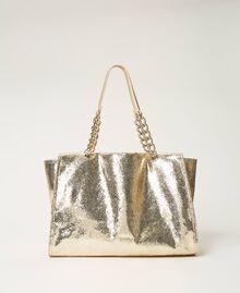 Сумка-шоппер с ламинированным тиснением Принт Питон Золотой Светлый женщина 211LM7ZLL-01