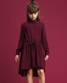 Crêpe shirt dress with hearts Tiny Heart Print Child 192GJ2530-02