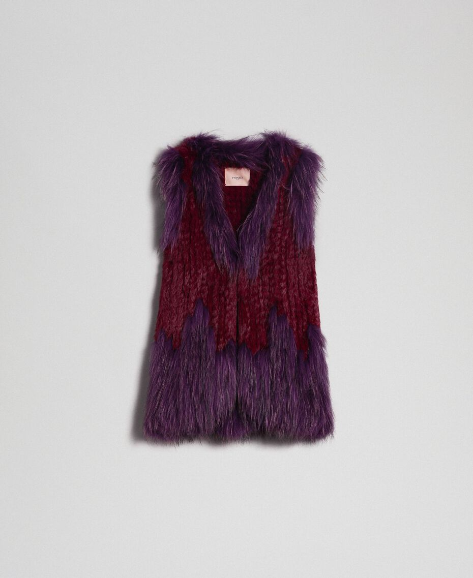 Tricot fur waistcoat Beet Red / Purple Woman 192TP2010-0S