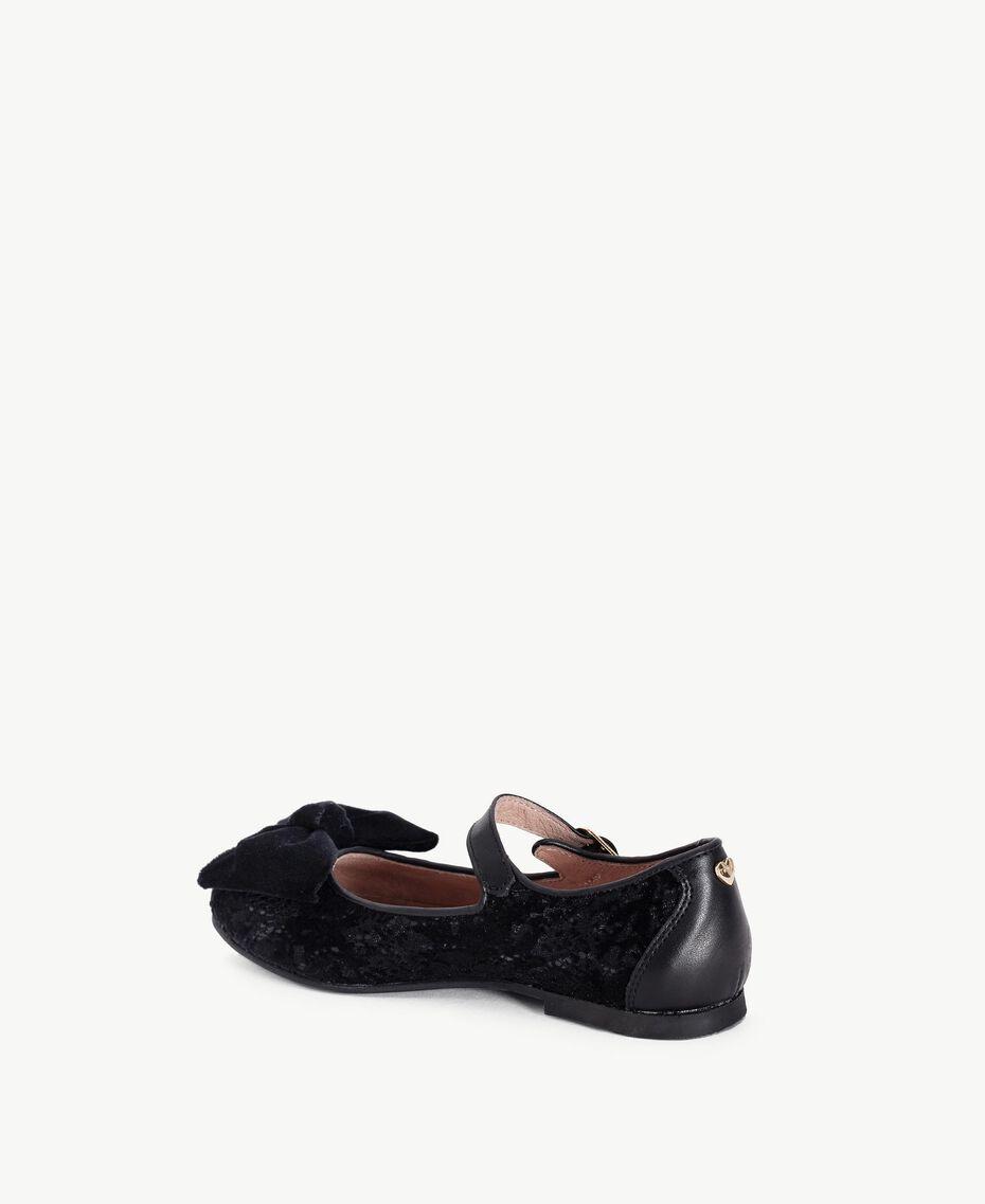 Ballerines dentelle Noir HA78E5-03