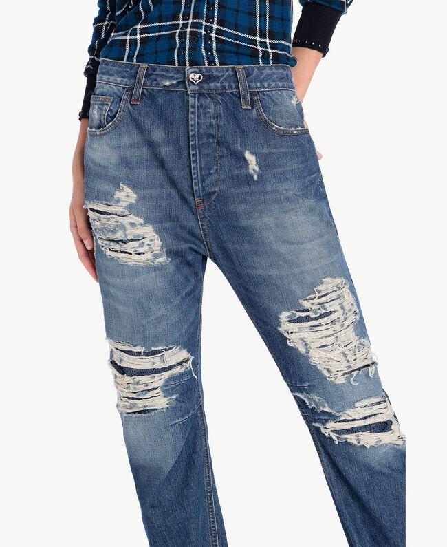 Boyfriend-Jeans Denimblau YA72Z1-04