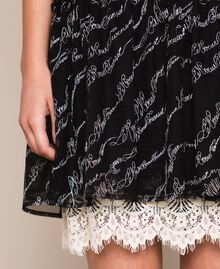 Tulle dress with embroidered logo Black Woman 201ST2041-05
