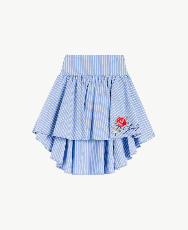Poplin skirt Infinite Light Blue Jacquard Child GS82LQ-01