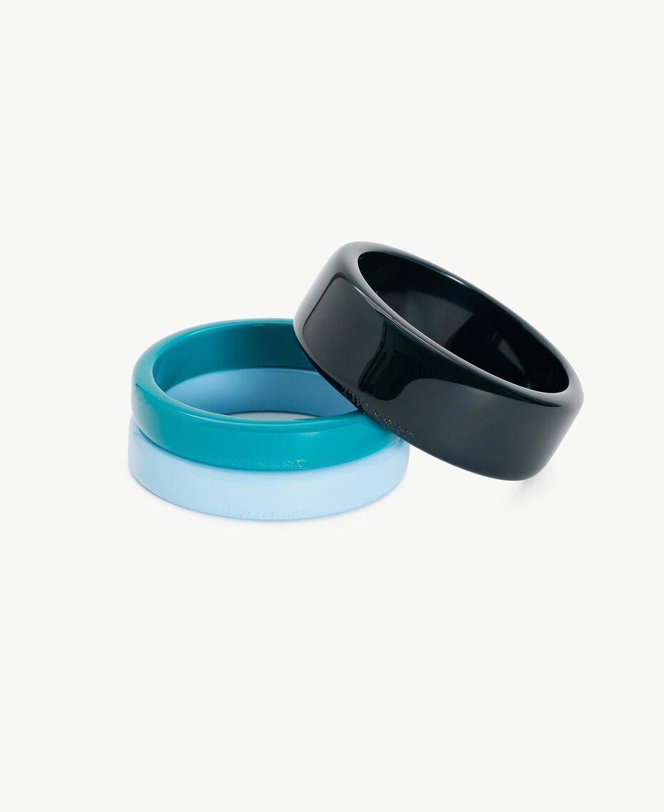 Set bracciali Multicolor Turchese / Blu Scuro / Blu D'Oriente Donna AS8P8W-01