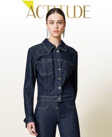 Giacca 'Gold' in jeans Denim Rinse Donna 212AP2143-01