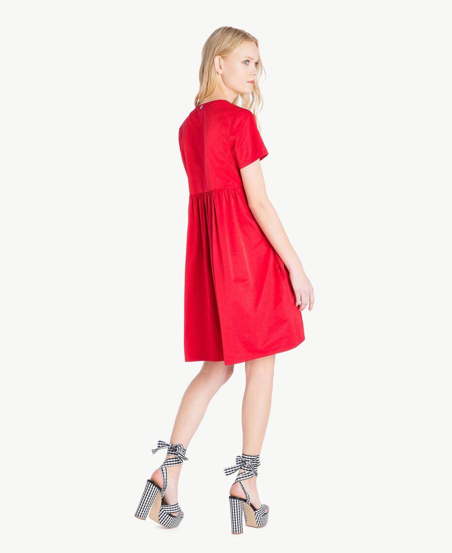 Asymmetrisches Kleid Hochrot Frau JS82QS-03