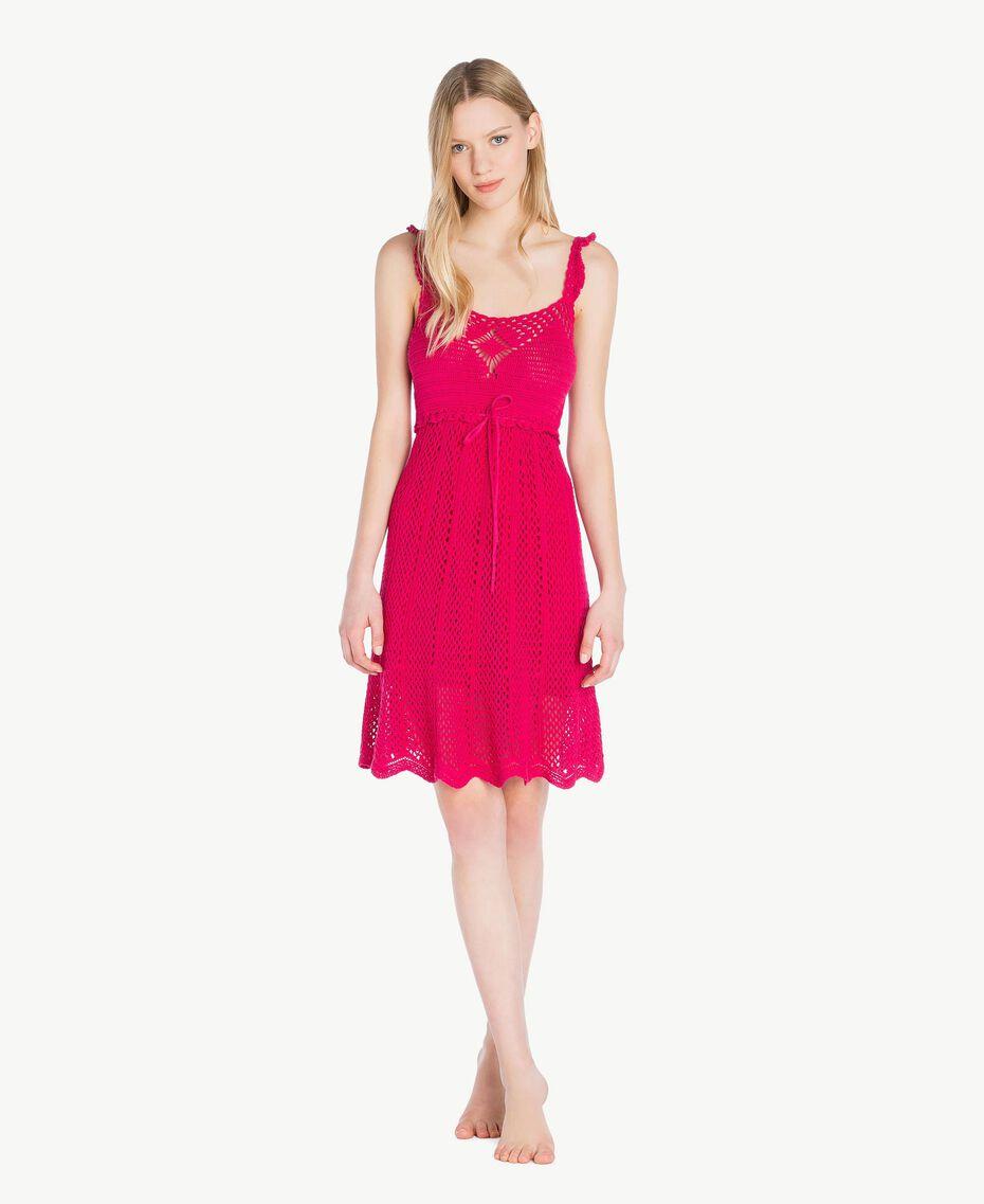 "Crochet dress ""Voluptuous"" Pink Woman MS8HBB-02"