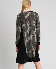 Abito in maglia stampata con inserti Stampa Camouflage Donna 192TT3341-04