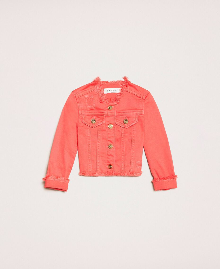 """Bull jacket with fringed trim """"Calypso Coral"""" Red Child 201GB2032-01"""