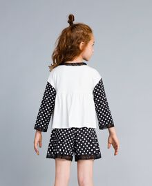 Polka dot jersey pyjamas Bicolour Black / Black Polka Dot Print Child GA828D-04