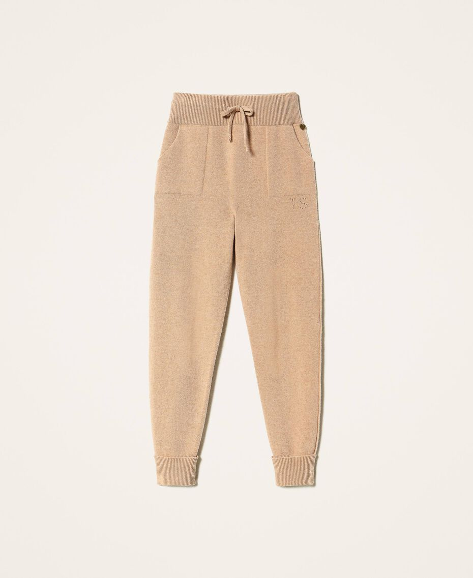 "Cashmere and wool joggers ""Pastel Skin"" Beige Woman 202TT3014-0S"