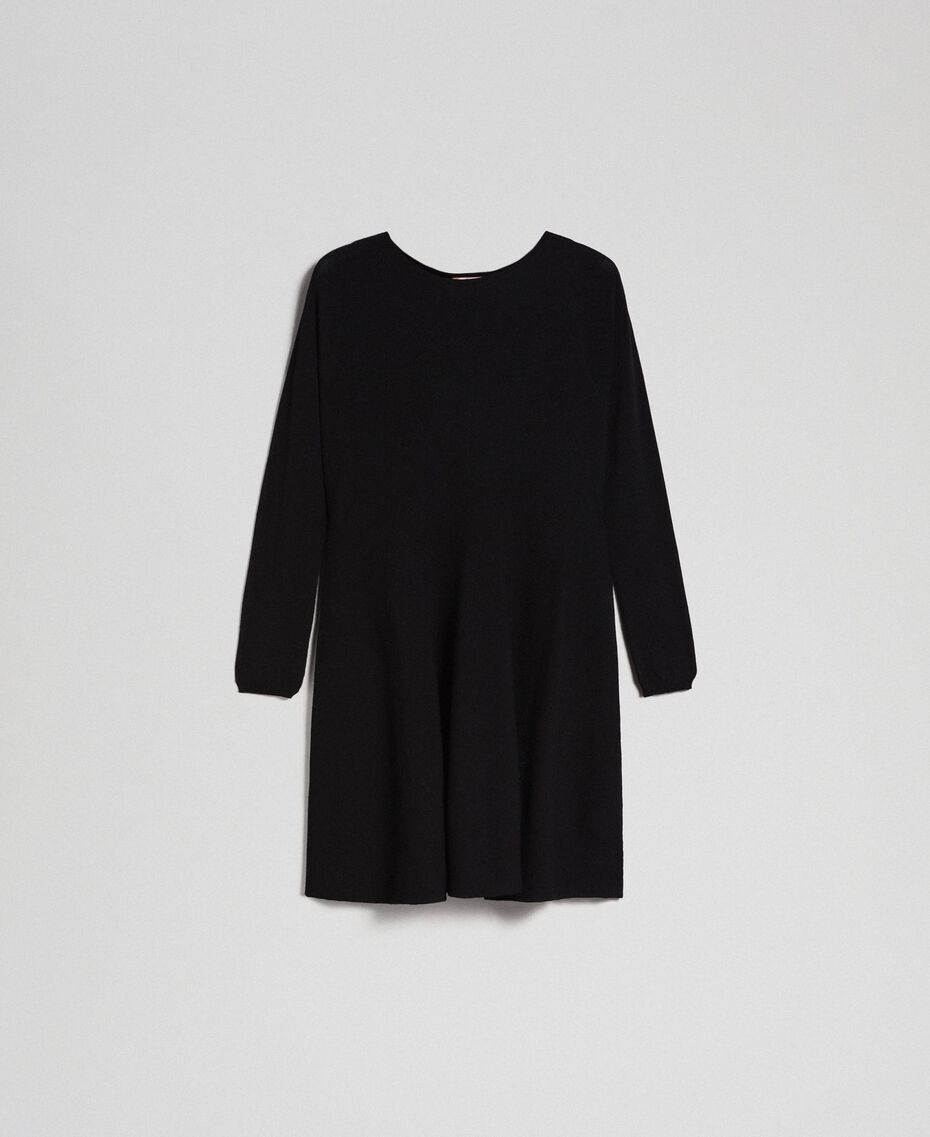 Knitted full dress Black Woman 192TT3281-0S