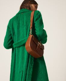 Round Rebel shoulder bag Leather Brown Woman 202TD8172-0S