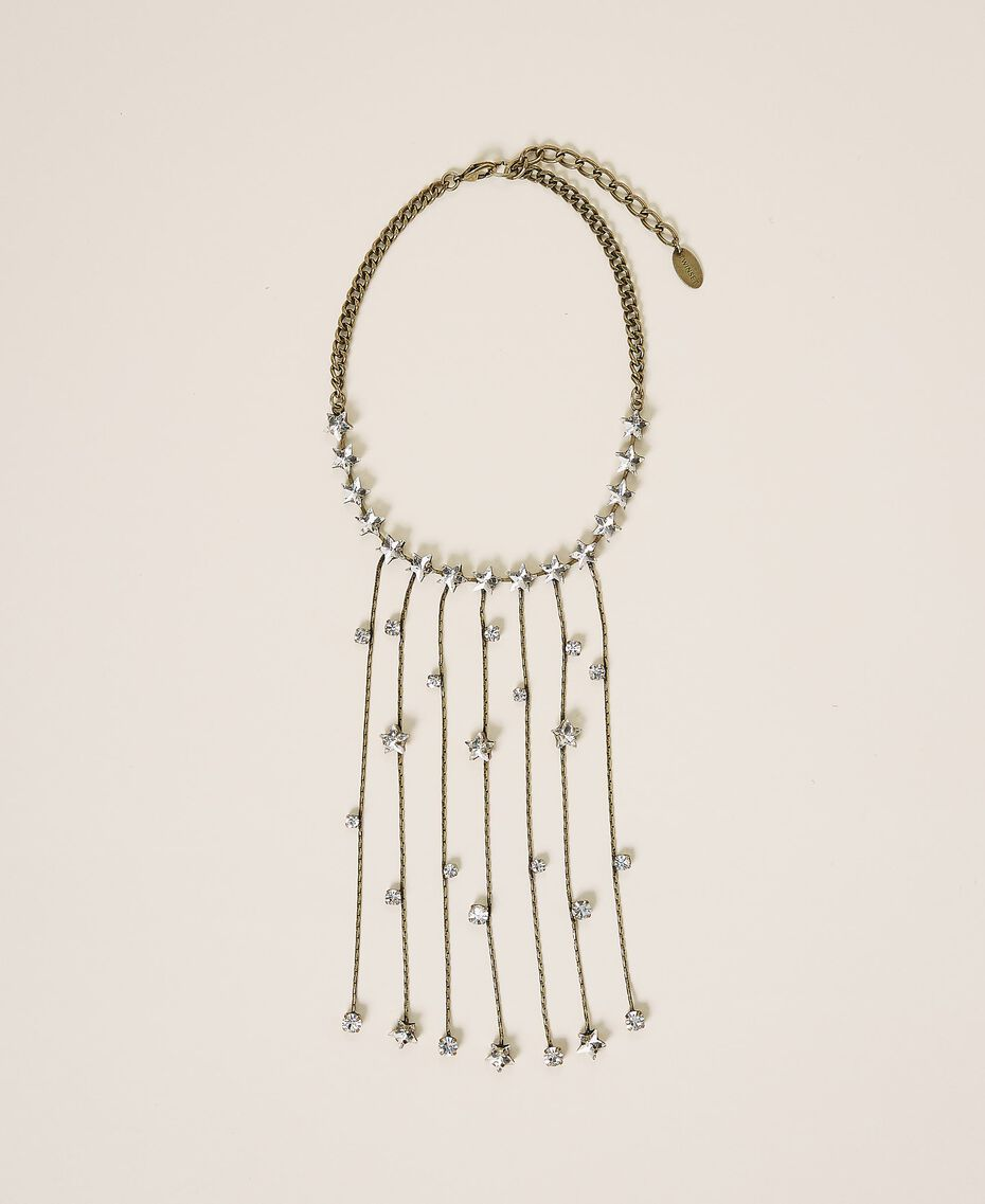 Choker with bezels and fringes Crystal Woman 202TA4301-02
