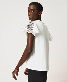 T-Shirt mit Spitzenärmeln Weiß Frau 211TT222A-03