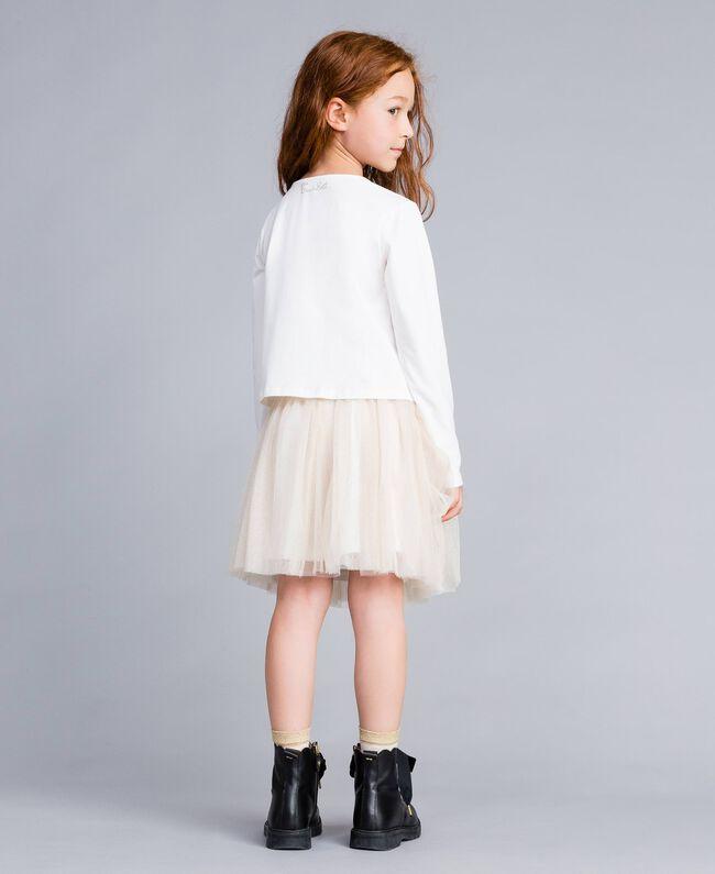 Jupe en tulle lurex Bicolore Blanc / Lurex Doré Enfant GA82L2-03