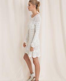 Robe en maille façon dentelle Blanc Neige Femme 201TP3210-02