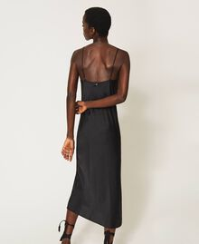 "Satin slip dress ""Nude"" Beige Woman 202MP2371-04"