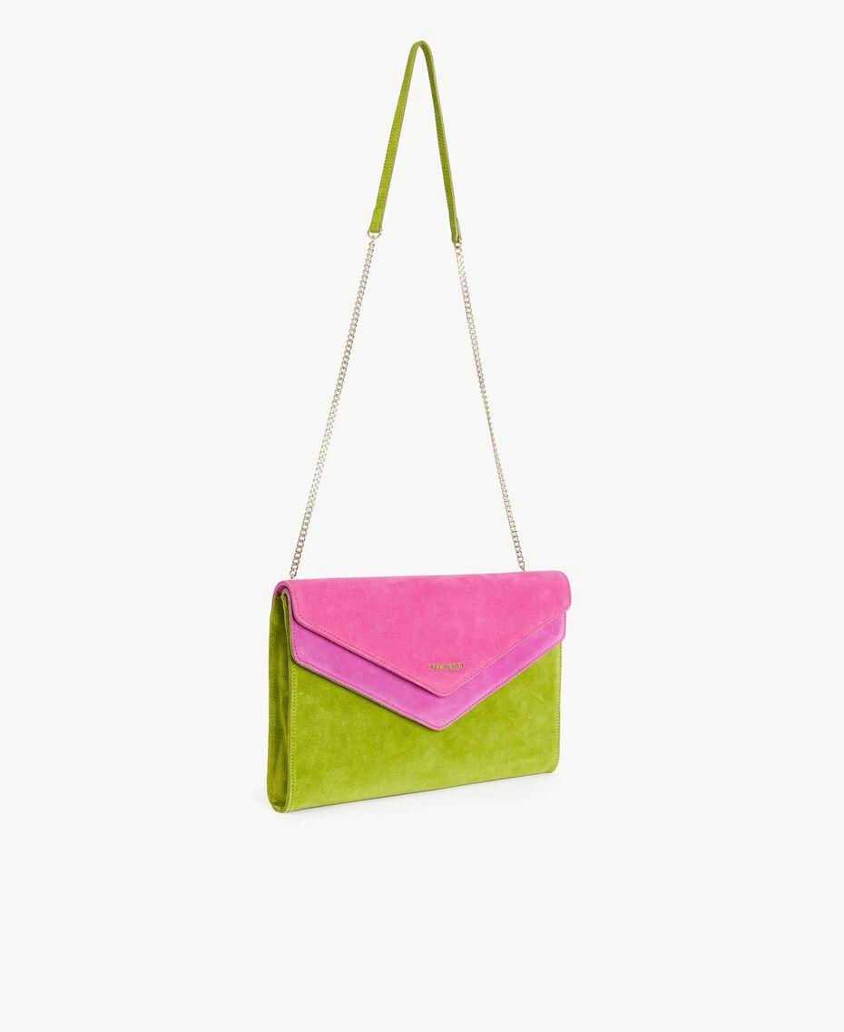 TWINSET Sac à bandoulière rabat Multicolore Kiwi / Rose Provocateur / Fuchsia Femme OS8TDP-02