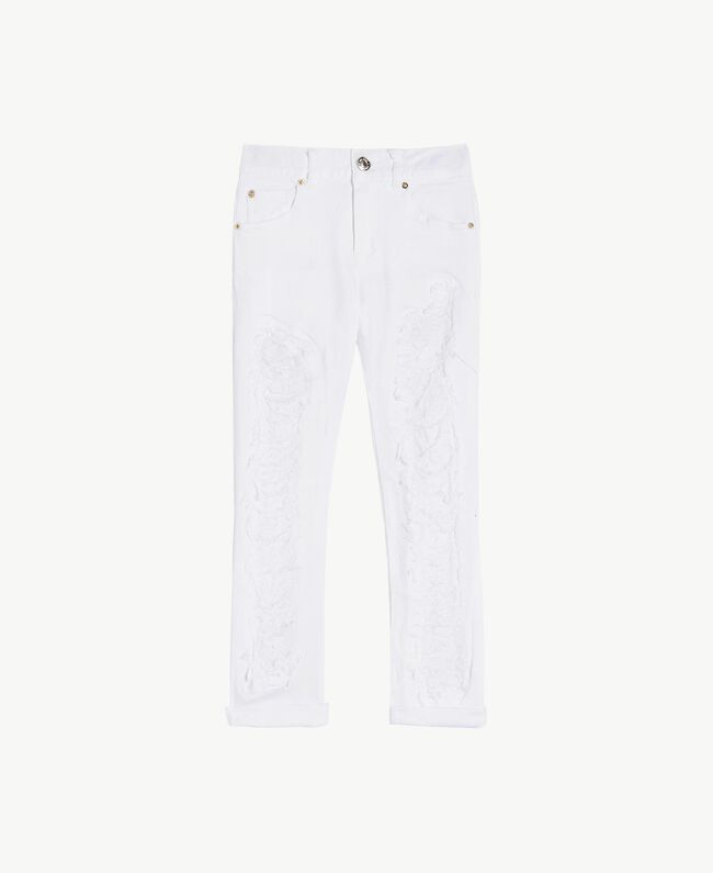 "Pantalon skinny Blanc ""Papers"" Enfant GS82CA-01"