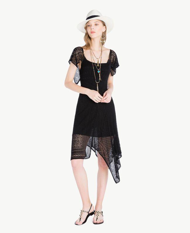 Robe viscose Noir Femme TS83AB-01