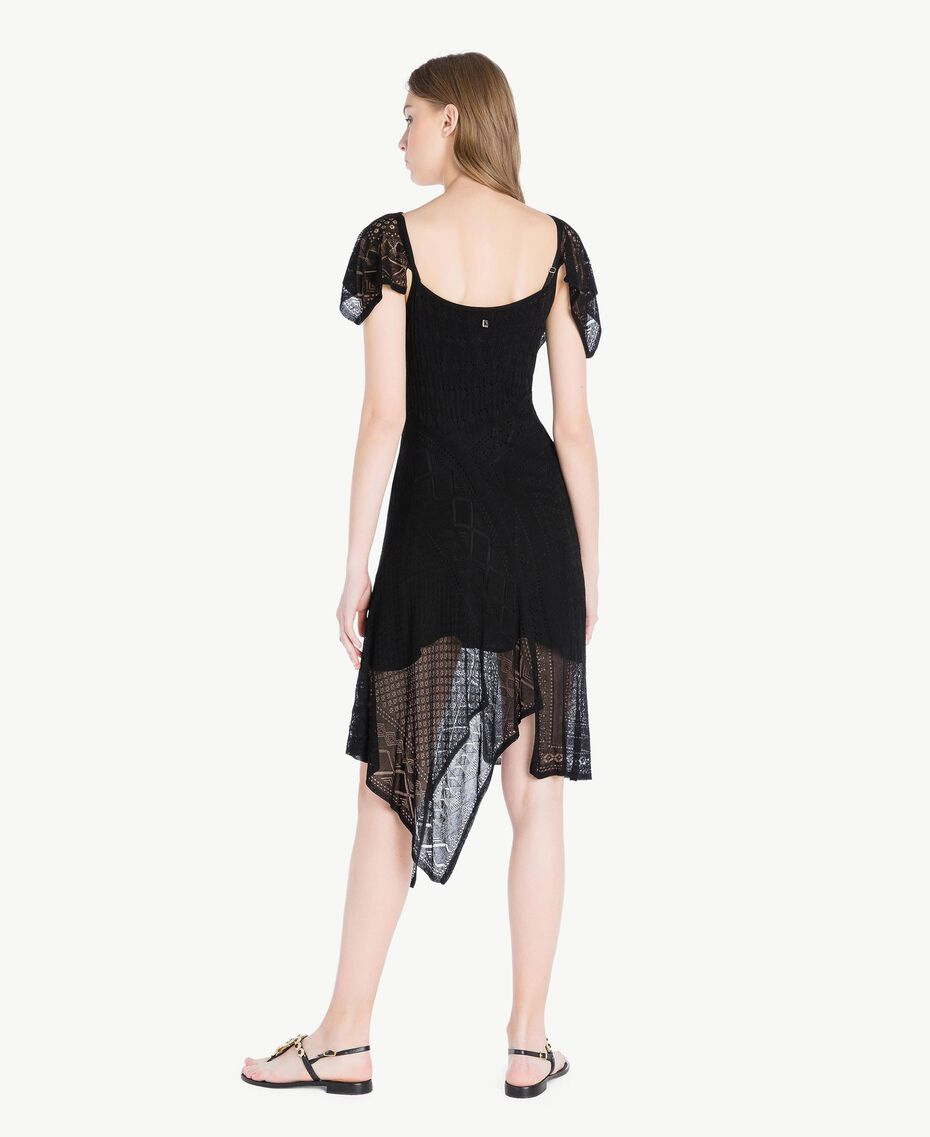 Kleid aus Viskose Schwarz Frau TS83AB-03