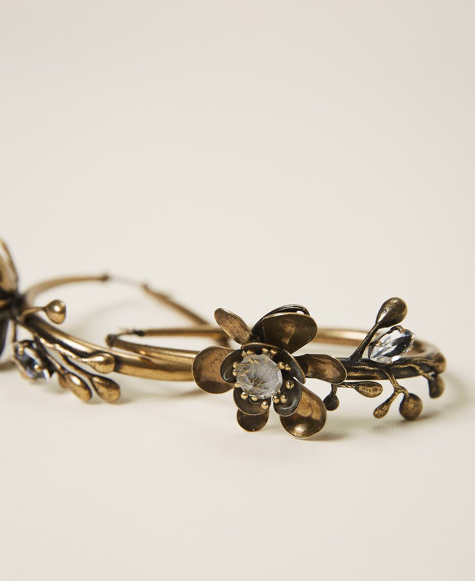 Floral earrings Aged Brass Woman 202TO5051-02