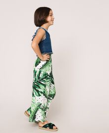 Printed trousers Green Polka Dot Tropical Print Child 201GJ2304-02