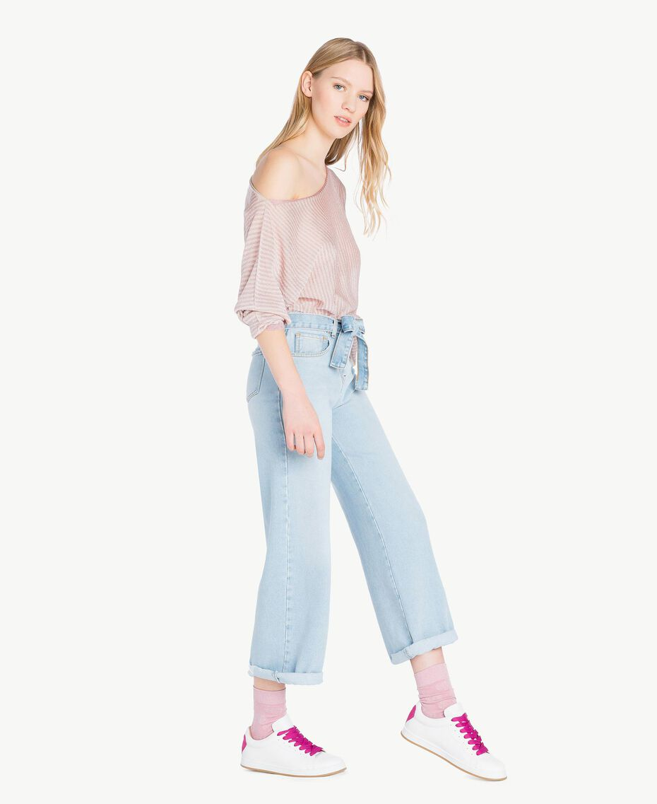 "Jacquard socks ""Hydrangea"" Pink Heart Jacquard Woman AS8P6X-02"