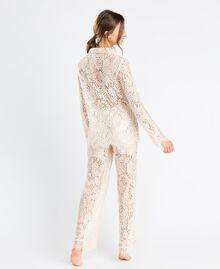 Pantaloni in pizzo smerlato Blanc Donna IA8CRR-03