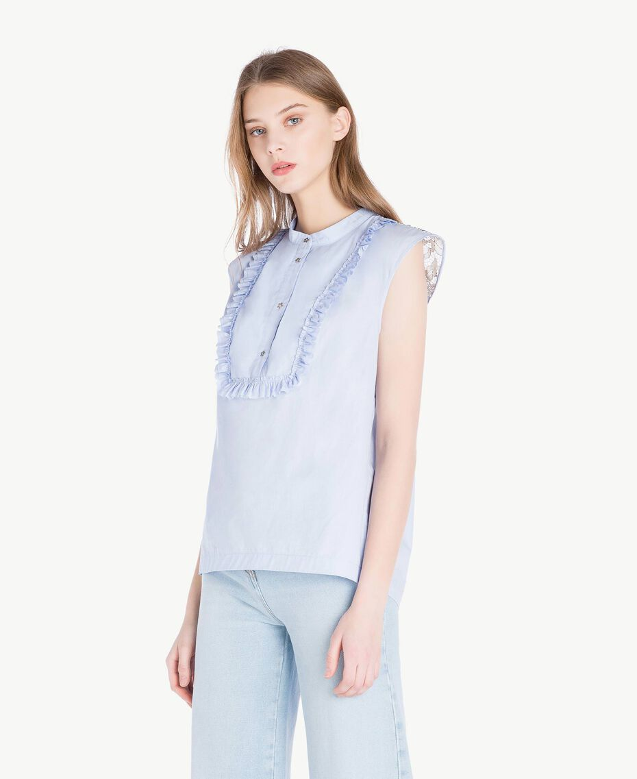 Ruffled top Topaze Sky Blue Woman JS82D6-02
