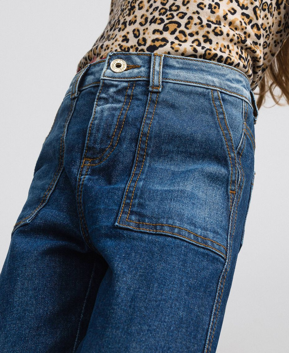 Jeans fatigue con tasche Denim Medio Bambina 192GJ2540-05