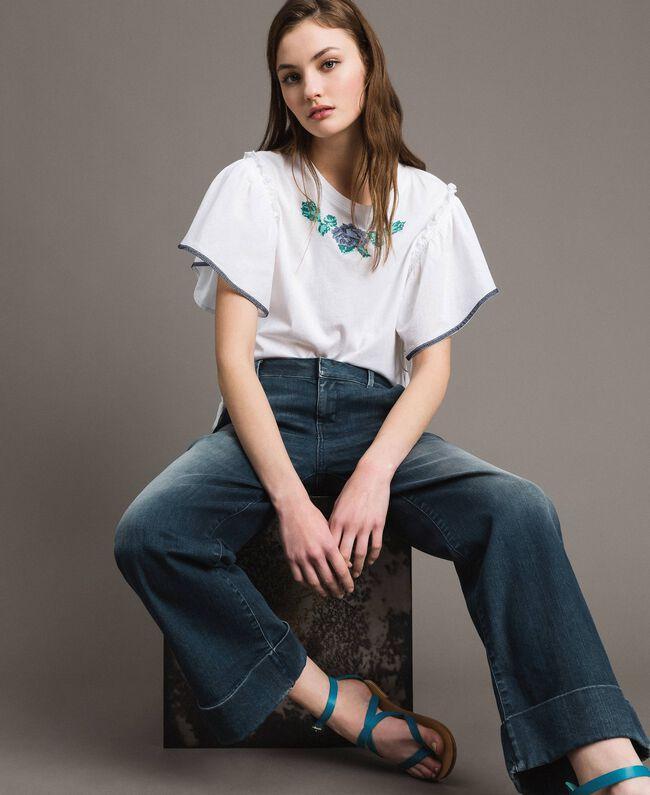 Chino-Jeans mit Fade-out-Waschung Denimblau Frau 191MP2478-01