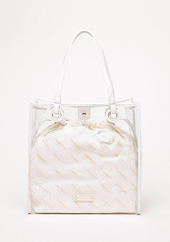 Shopper with logo sack