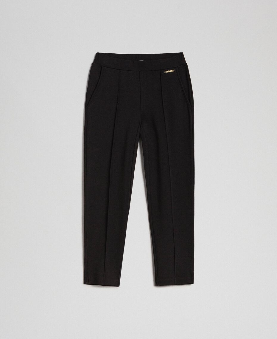 Slim fit trousers with elastic Black Child 192GJ2250-0S