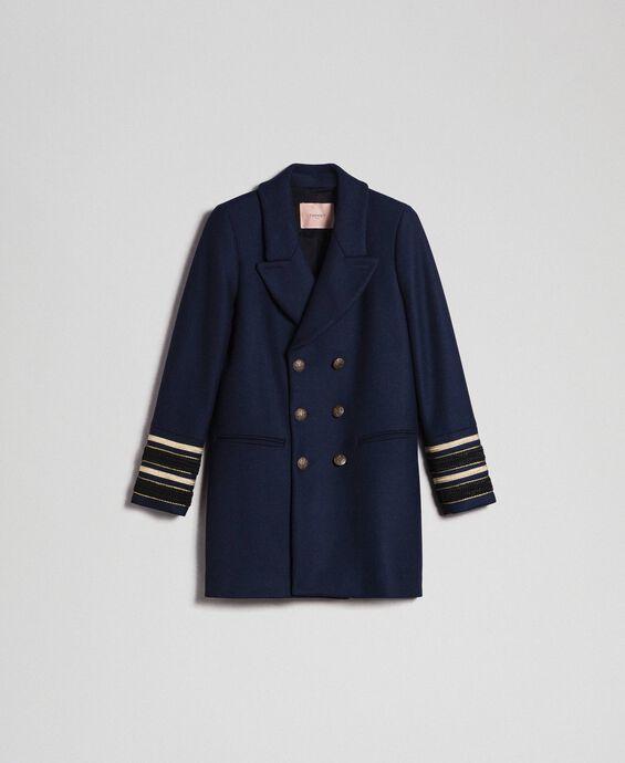 Manteau croisé en drap