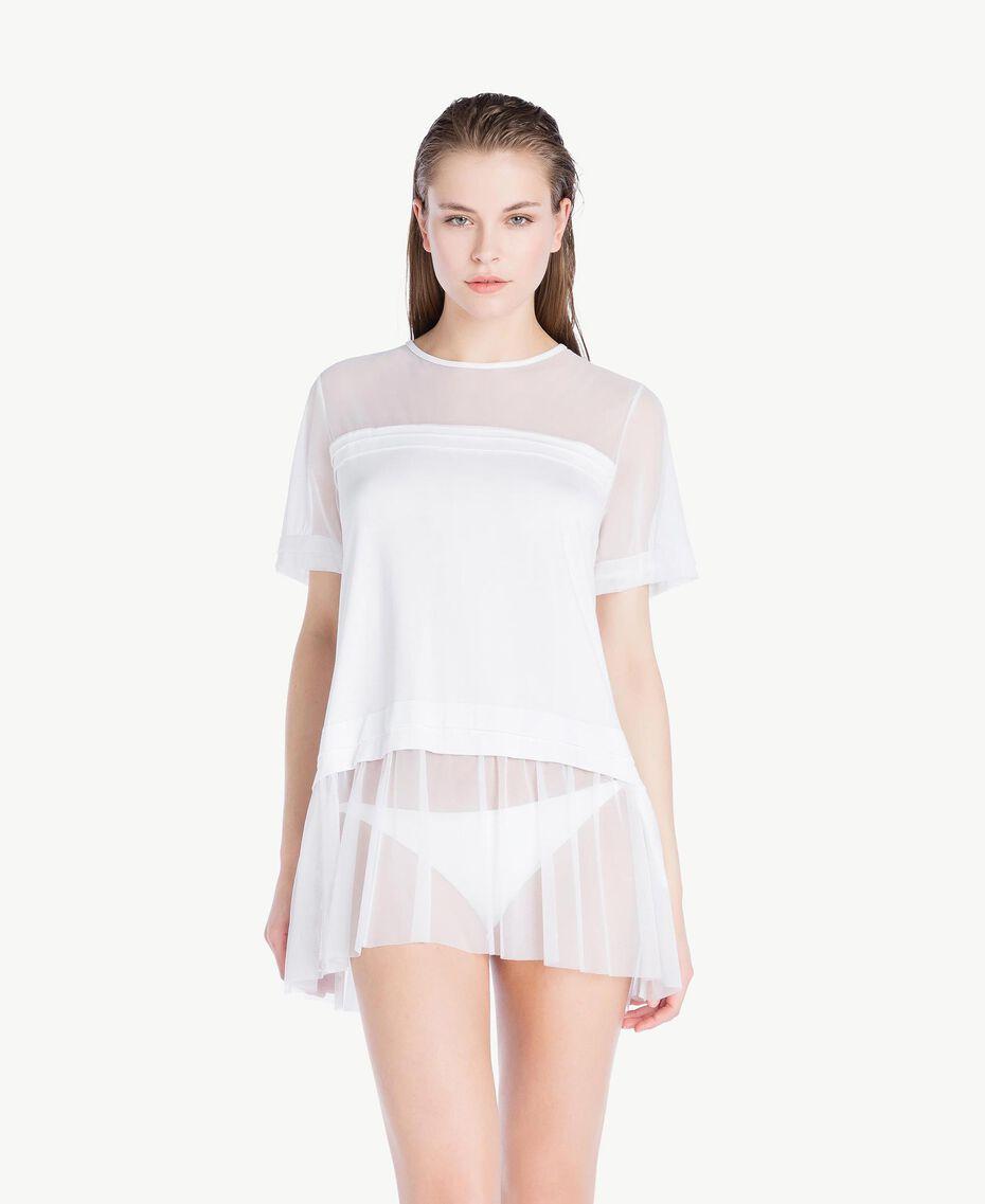 Maxi tulle T-shirt White Woman BS82TT-02