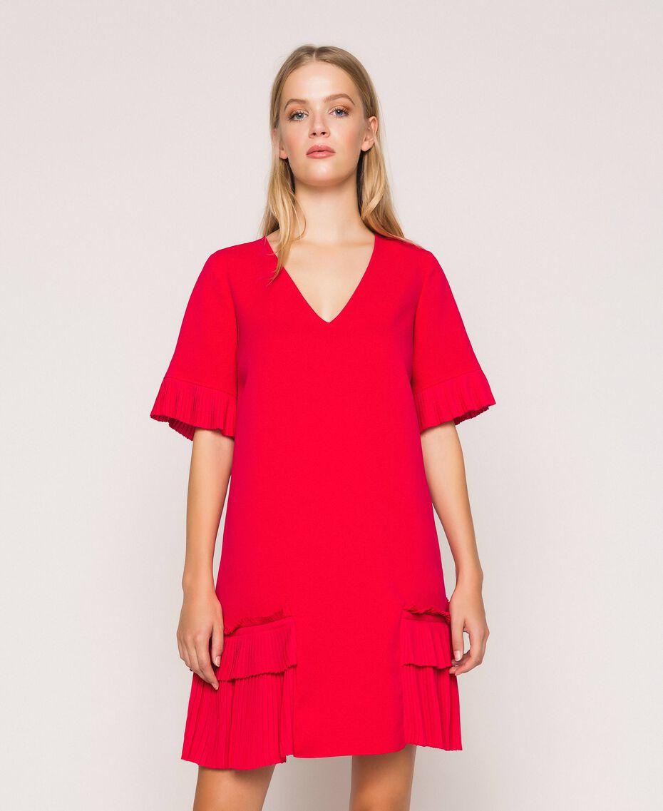 Georgette dress with pleats Black Woman 201TP2026-02