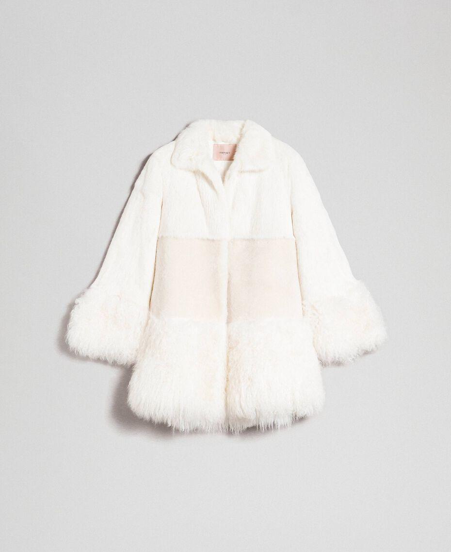 Mixed fur coat White Snow Woman 192TT2390-0S