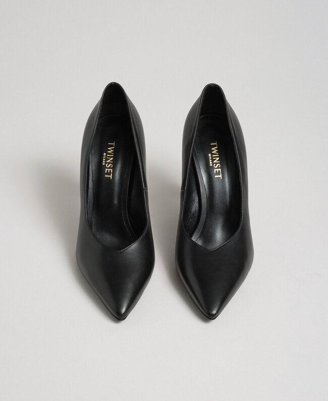 Escarpins en cuir Noir Femme 999TCP010-05
