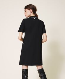 Dress with embroidery Black Woman 202TP251A-03