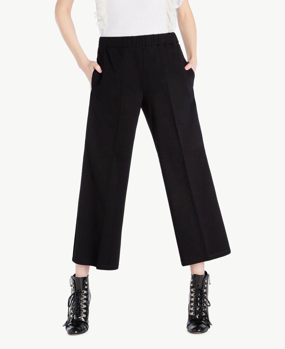 Pantalon palazzo Noir Femme PS828L-01