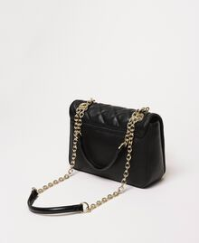Faux leather shoulder bag with charms Black Woman 201MA7043-03