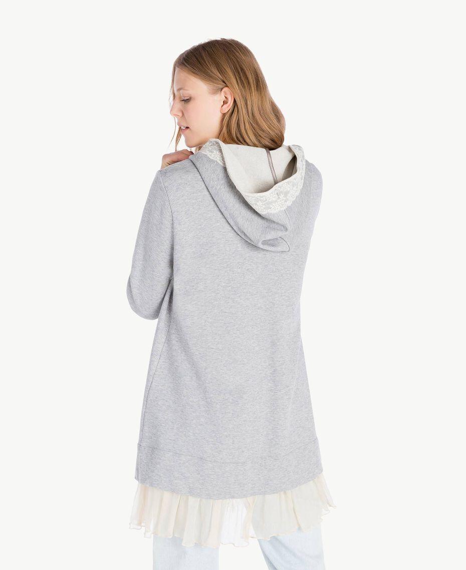 Maxi-Sweatshirt Hellgrau-Mélange Frau PS82UP-03