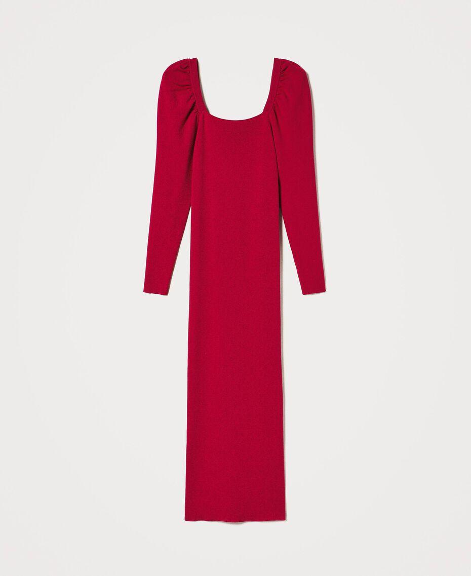 "Knit sheath dress ""Cerise"" Fuchsia Woman 202MP3055-0S"