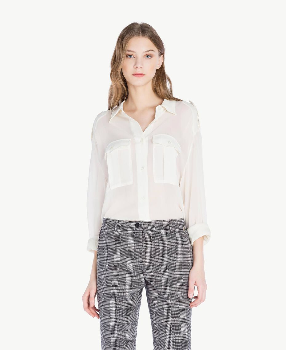 Georgette shirt Light Ivory Woman PS823F-01