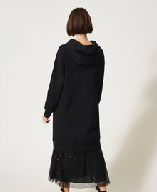 Maxi hoodie with logo and ladybug embroidery White Woman 202TP2806-04