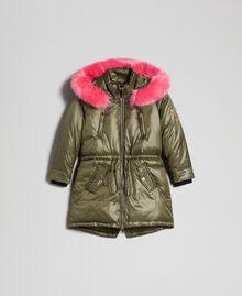 Doudoune avec capuche et fausse fourrure Vert Alpin Enfant 192GJ2072-0S